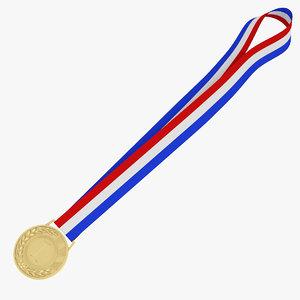 3D medal trophy