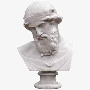 3D model priapus bust