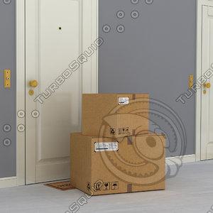 3D apartment boxes model