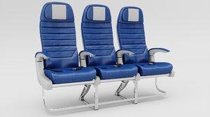 3D airplane seat model