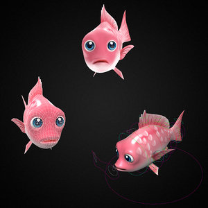 red snapper fish toon 3D