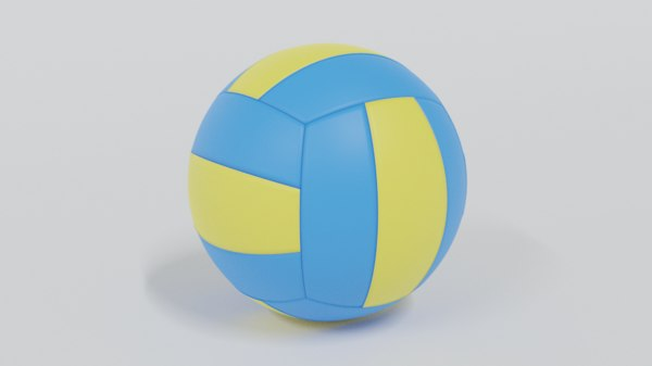 3D model volley ball modelled low-poly