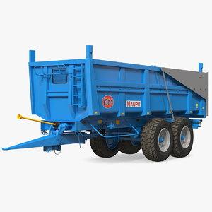 3D maupu 18t trailer clean model