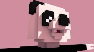 3D panda cartoon art model