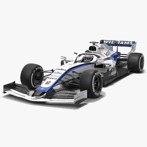 3D williams f1 racing fw43