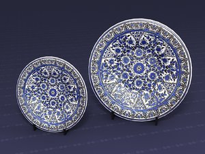 3D decorative plate model