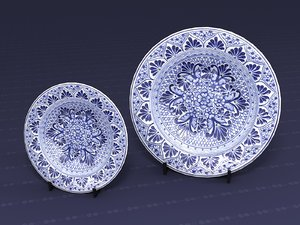 decorative plate 3D