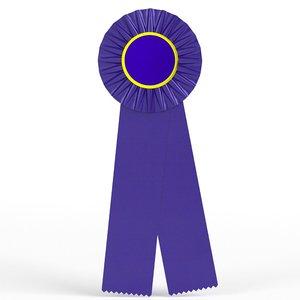award ribbon 3D