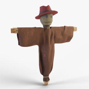 3D model scarecrow crow scare