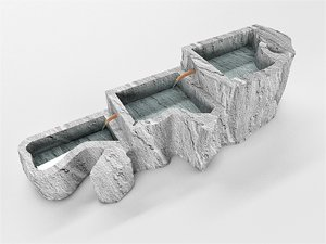 3D decorative concrete model