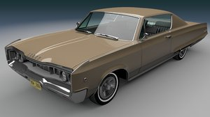 3D model coupe dodge polara