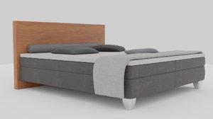 3D bed box spring model