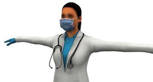 3D indian girl doctor