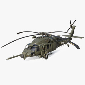 3D combat rescue helicopter sikorsky