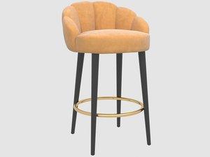 3D olympia counter stool munna model