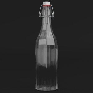 3D bottle bracket closure closed