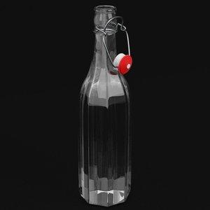 bottle bracket closure open 3D model