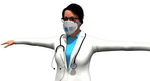 indian women doctor model