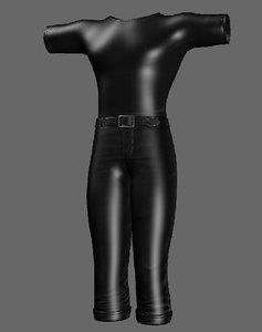 clothingdressskirtshirtpant 3D model