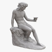 Bacchus with Bowl Statue