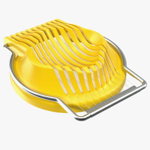 egg slicer stainless steel 3D