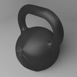 3D model kettlebell 2 kg