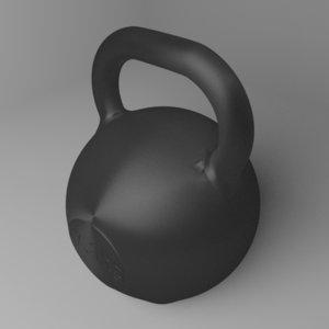 3D kettlebell 7 5 kg model