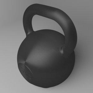 kettlebell 5 kg 3D model