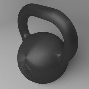 3D kettlebell 1 kg