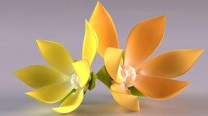 cananga ylang flower decor 3D model