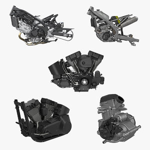 motorcycle engines 3 3D model