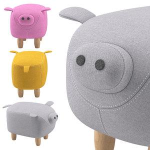 3D pig toy