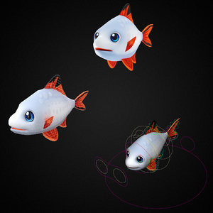 stripe tailed tinfoil barb 3D model