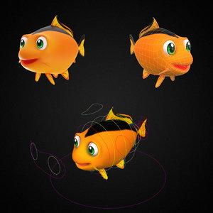 common carp fish toon model