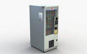 3D beverage vending machine model