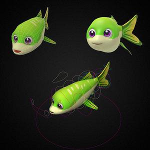 apollo shark minnow fish toon model