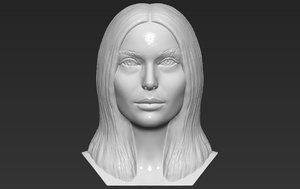 3D natalie portman bust printing model