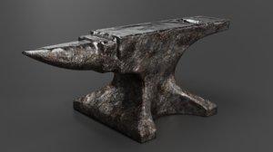 3D anvil blacksmith tool model