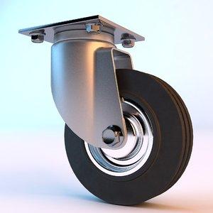 3D wheel cart shopping model