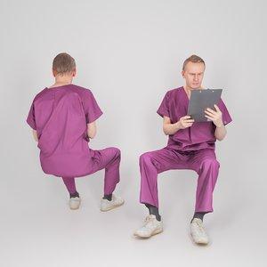 man uniform doctor 3D model