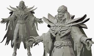 desert ninja suit 3D model