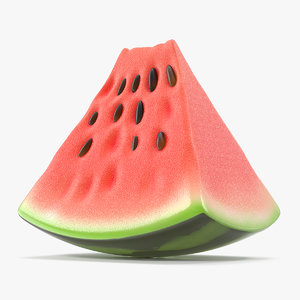 3D cartoon piece watermelon slice model