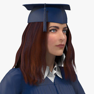 female graduate student rigged woman model