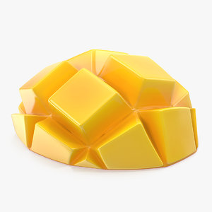 3D fresh mango slice