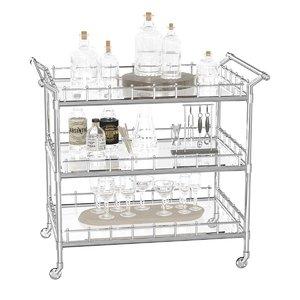 trolley scarlett bar cart 3D model
