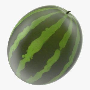 3D cartoon watermelon water