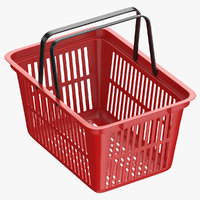 Plastic Shopping Crate 02 Red