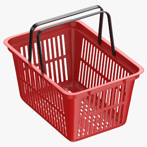 3D model plastic shopping crate 02