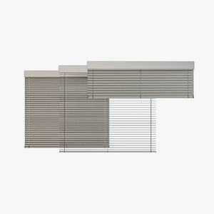 3D venetian blinds rails x