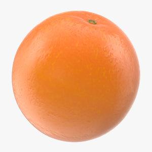 ripe orange fruit cartoon 3D model